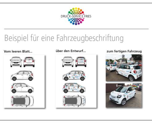 Beispiel für eine Fahrzeugbeschriftung